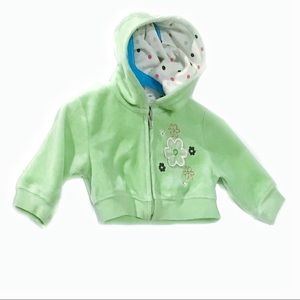 Kids Korner 9 Mo. Green Embroidered Fleece Hoodie